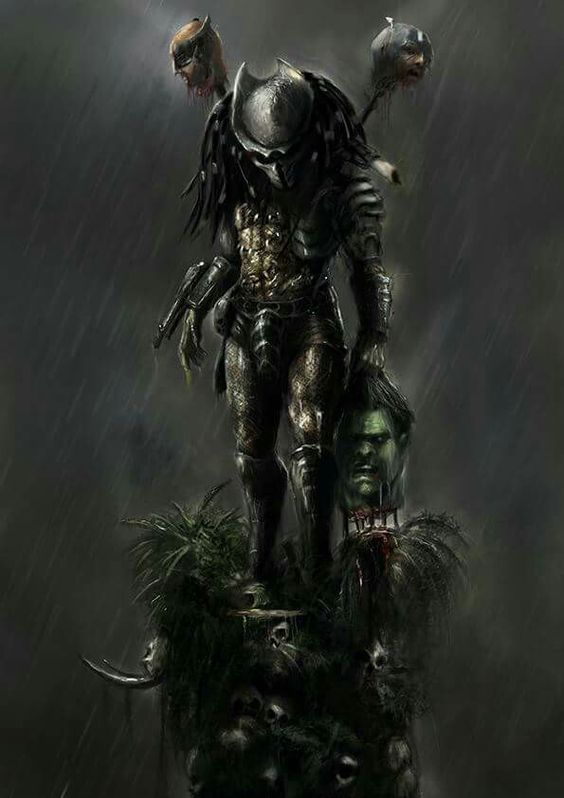 This wonderful piece of Predator artwork comes via the talent of Camille…