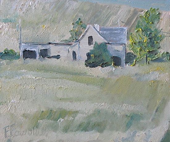 The Old House On The Blond Field by Francois Fournier Oil ~ 10 x 12