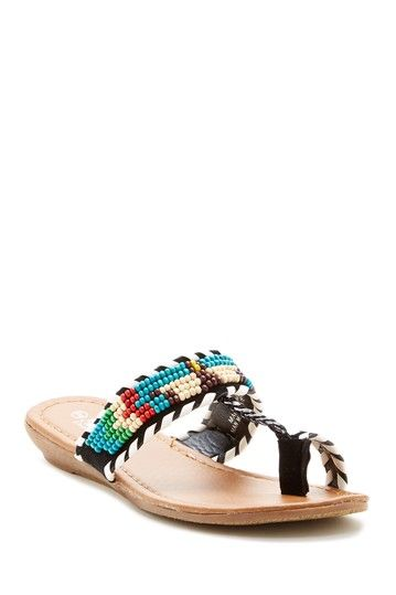 Beaded Toe Loop Sandal by Shoes Of Soul on @HauteLook