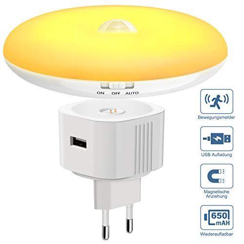Nachtlicht Magichome Batteriebetrieben Led Nachtlicht Mit Bewegungsmelder Und Dammerungssensor Steckdosenlicht Sensorle In 2020 Nachtlicht Bewegungsmelder Nachtlampen