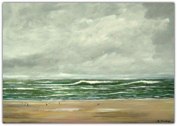 Acryl/Leinwand 50 cm x 70 cm x 1,5 cm Preis 440,- Euro  Nordsee 2