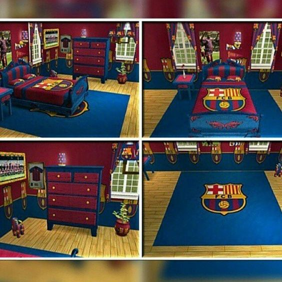 fc barcelona bedroom kades favourite footy team after spurs he would love this barcelona bedroom