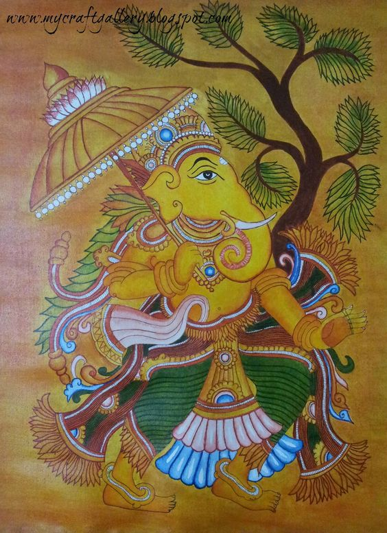 Pinterest the world s catalog of ideas for Mural art of ganesha