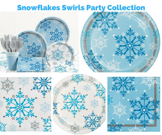 Snowflake Swirls Party Banner