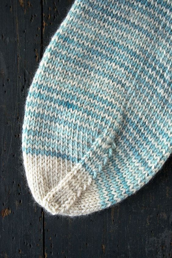 Whits Knits: Striped Crew Socks - The Purl Bee - Knitting Crochet Sewing...