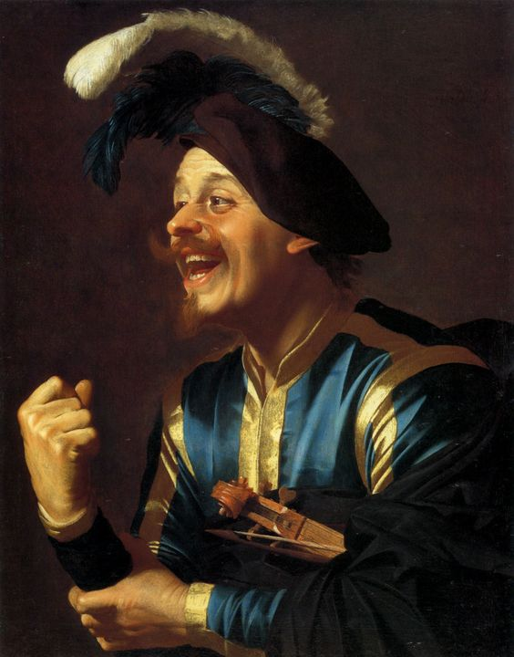 Gerrit van Honthorst (Dutch, 1590-1656). Merry Musician with a Violin Under his Left Arm