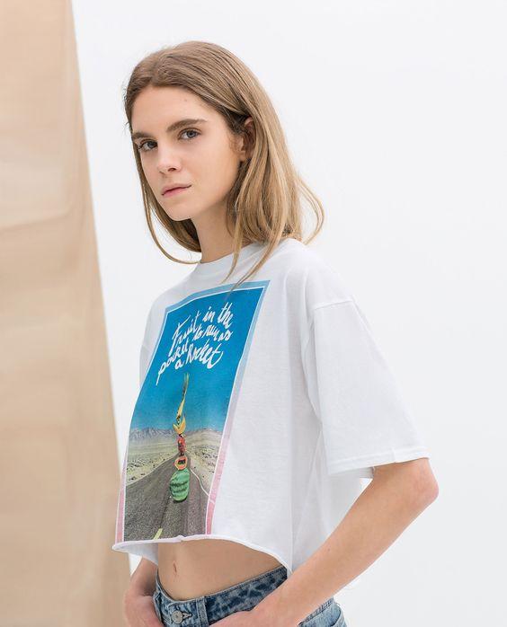 T - SHIRT ESTAMPADA - Trf - T - shirts - MULHER | ZARA Portugal