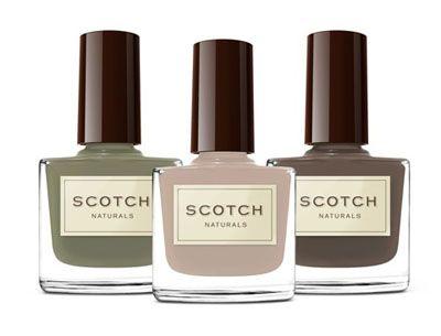 Scothc Naturals, water based nail polishes