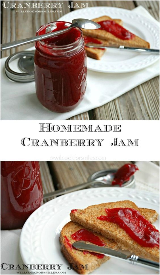Homemade Cranberry Jam (serves 8)