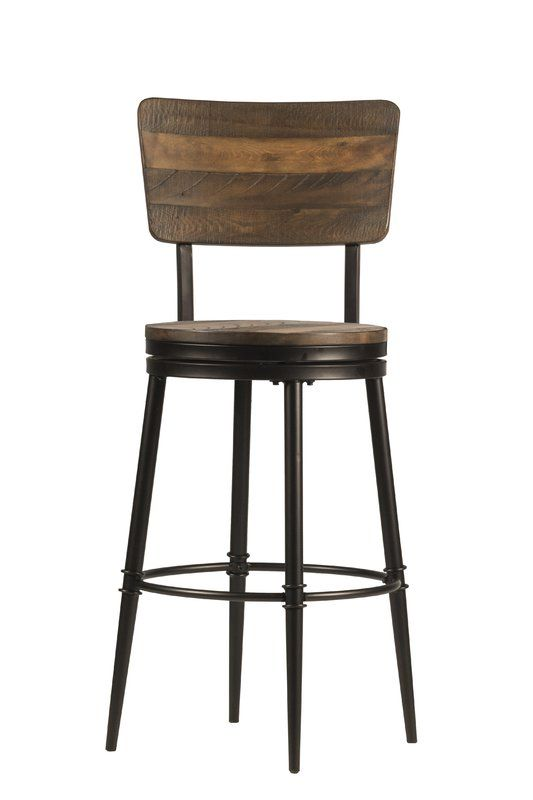 Gracie Oaks Cathie 30 Swivel Bar Stool Reviews Wayfair Rustic Bar Stools Swivel Bar Stools Bar Stools