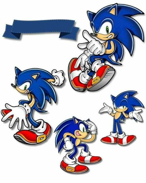 Sonic Free Printable Cake Toppers Sonic Birthday Sonic Cake Sonic Birthday Cake