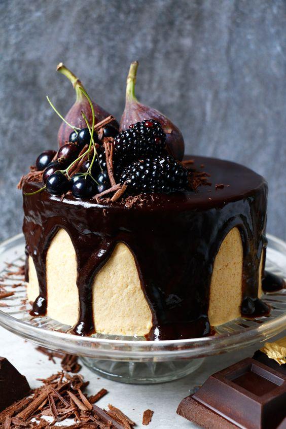 Vegan Chocolate Cake with Chickpea Tahini Frosting (gluten-free):