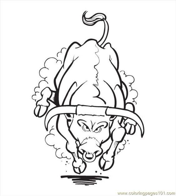 Horse Bull Coloring Pages Printable Coloring Coloring Pages