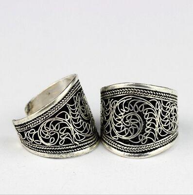 Barato Oriental nepal indiano handmade tibetano de prata antigo do vintage wide open anel unisex amuleto étnica exótico bohemian gypsy boho, Compro Qualidade Anéis diretamente de fornecedores da China:        Bem-vindo à loja                             Tribo Acessórios                                        :)!!