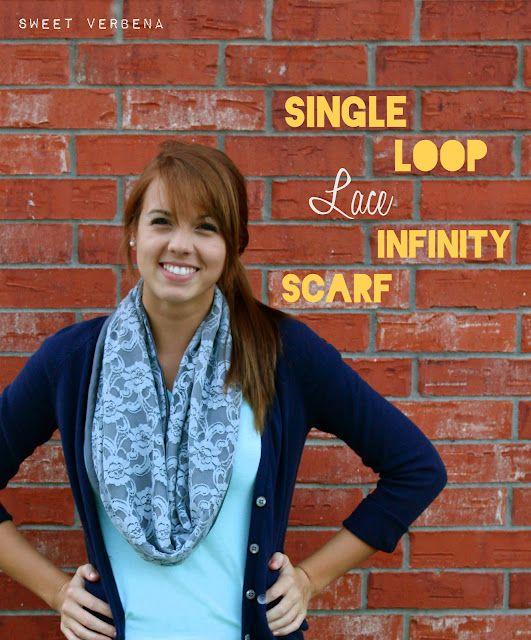 DIY infinity scarf.  So cute!