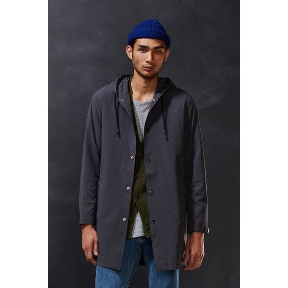 CPO Hooded Long Parka Jacket ($89) via Polyvore featuring men&39s