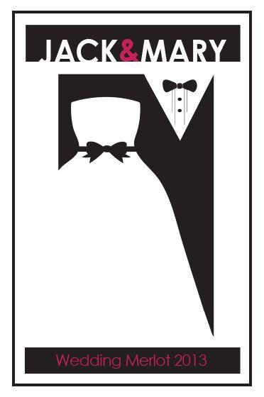 White Rose Custom Wine Label | Wedding Wine Labels We Love ...