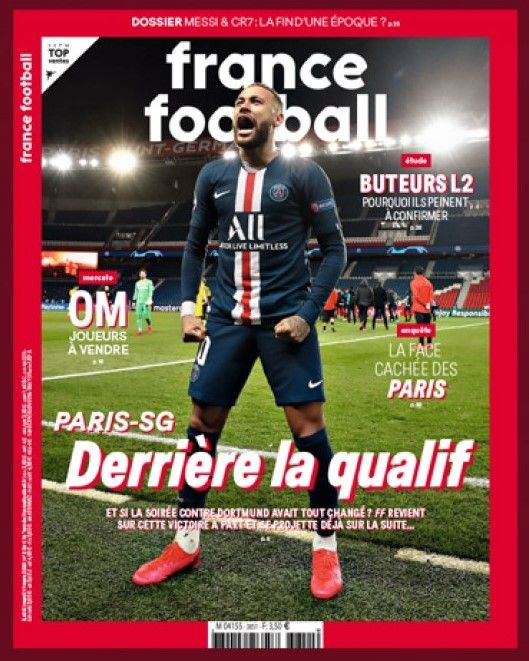 France Football Magazine Neymar A Key Factor For Psg S Qualification In The Champions League Neymar Proved That He Is More Than A Brill En 2020 Joueur Sport France