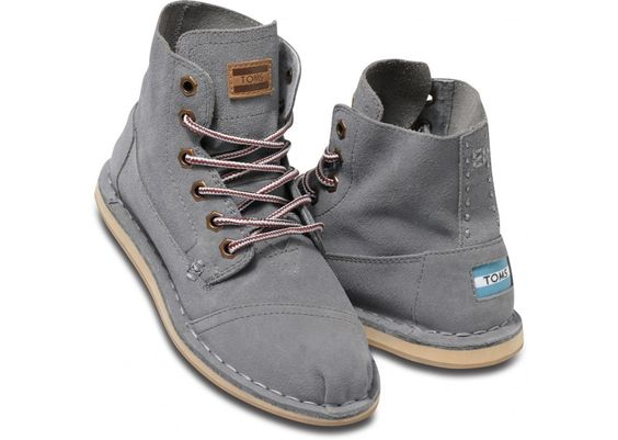 i neeeeeed these to come back in stock in my size :( TOMS Grey Suede Tomboy Boots
