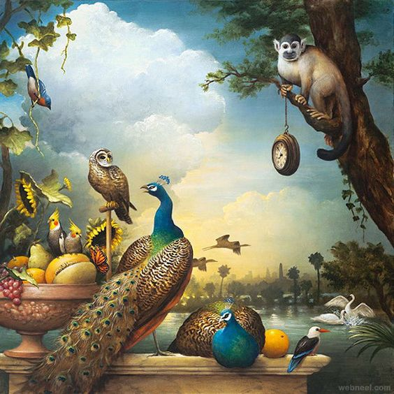 22 Creative American Magical Realism Paintings by Kevin Sloan | Read full article: http://webneel.com/22-creative-american-magical-realism-paintings-kevin-sloan | more http://webneel.com/paintings | Follow us www.pinterest.com/webneel