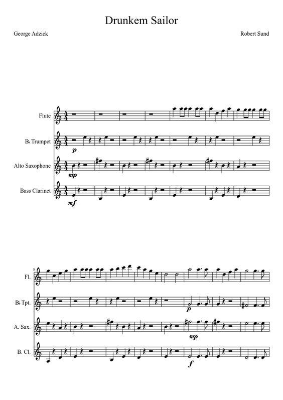 bilbobaggins flute sheet music