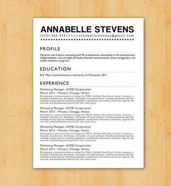 Custom resume writing