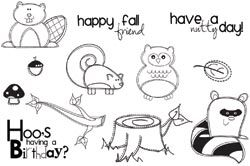 Unity AUTUMN PALS Cling Rubber Stamps