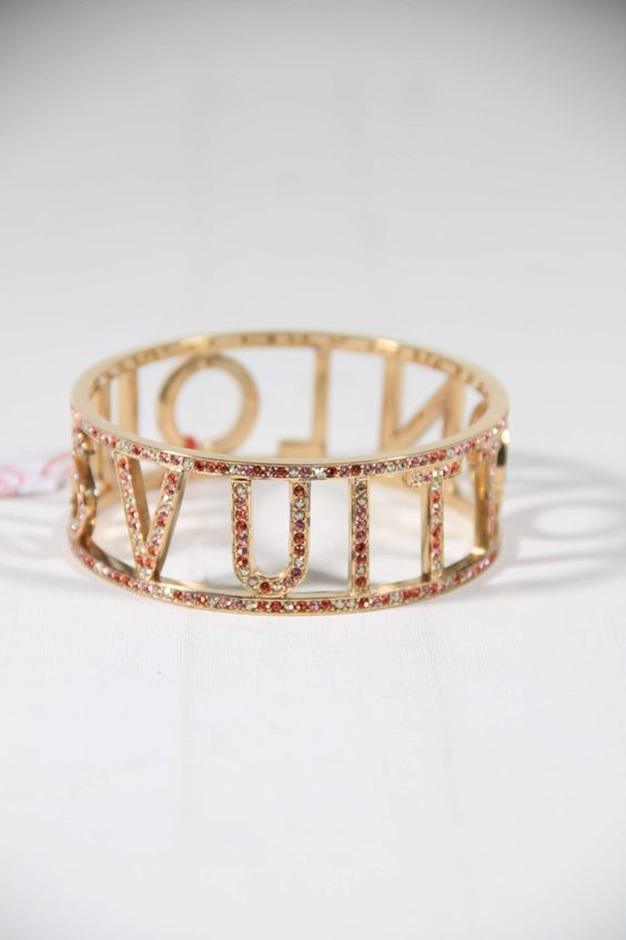LOUIS VUITTON Orange 1001 NUITS SUNSET CRYSTAL Bangle BRACELET