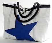 recycled sailcloth tote - perfect beach bag from Ella Vickers, made in the US