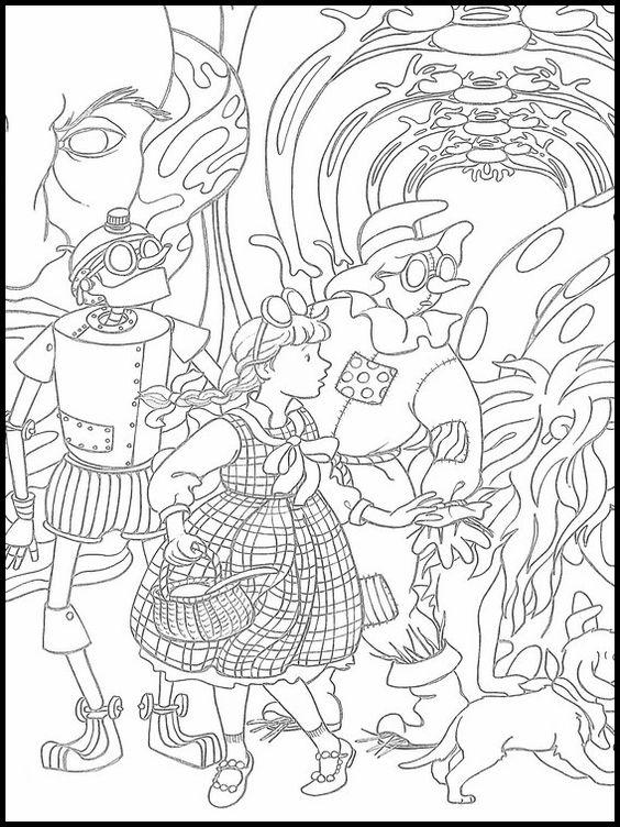 El Mago De Oz 21 Dibujos Faciles Para Dibujar Para Ninos Colorear En 2020 Libro De Colores Dibujos Paginas Para Colorear Para Ninos