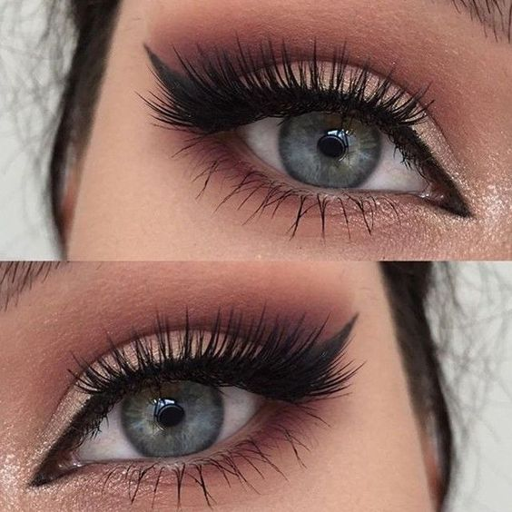 Beautiful eye look with think lashes and a perfect wing. Shop our range of false lashes here > https://www.priceline.com.au/cosmetics/eyes/false-eyelashes