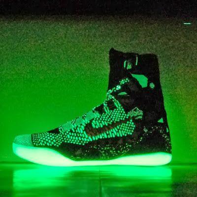Kobe 9 Elite Team Maroon Black Green Glow 583112 031