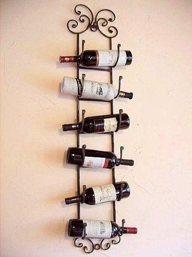 Scaffale vini Scaffale bottiglie da appendere in ferro battuto Porta bottiglie Scaffale a parete: Amazon.it: Casa e cucina