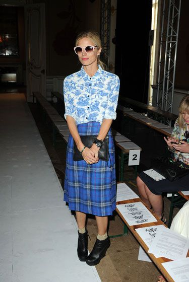 toile + plaid -- Laura Bailey at the Fashion East Front Row #lfw