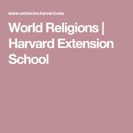 World Religions | Harvard Extension School