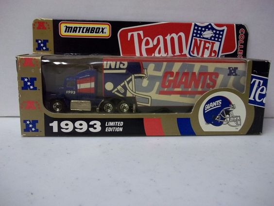 Nfl Toy Trucks : New york giants limited edition matchbox hauler nfl