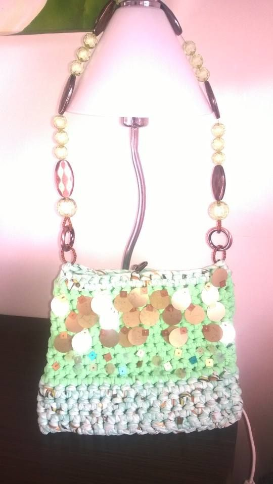 borsa gioiello verde acqua