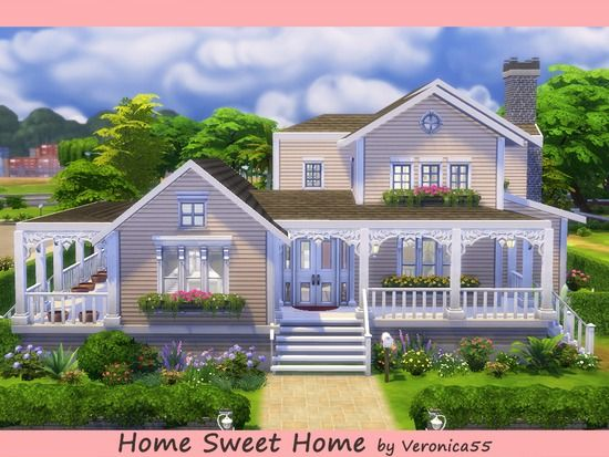 Nice Moderately Large House For Family And Kids Found In Tsr Category Sims 4 Residential Lots Sims 4 House Design Sims House Sims 4 House Building