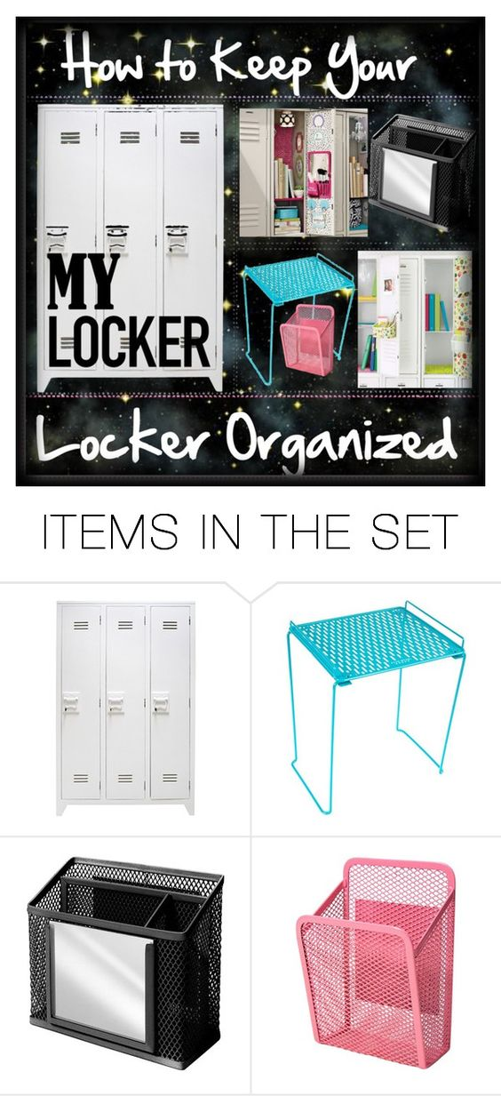 """""""How to Keep your Locker Organized Tip"""" by dinostyler ❤ liked on Polyvore featuring art and Cassie700followersROUND2"""