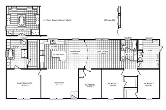 Floorplan 4705 ROCKETEER 5 76X32
