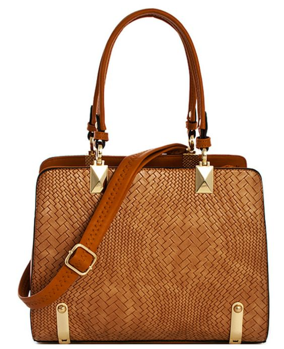 Tracy Patterned Princess Satchel with Long Strap