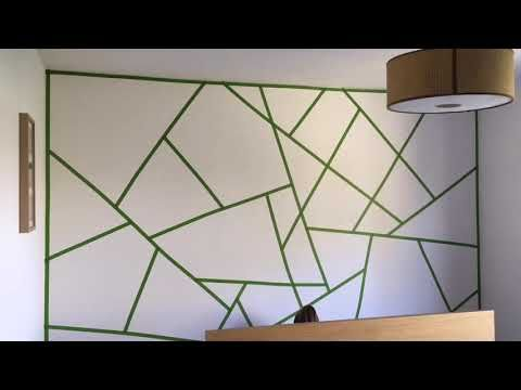 Triangle Paint Wall The Making Of Youtube Geometric Wall Paint Wall Paint Patterns Wall Paint Designs
