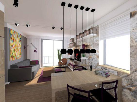 Projekty mieszkań - wnętrza, meble, dekoracje - Domosfera.pl