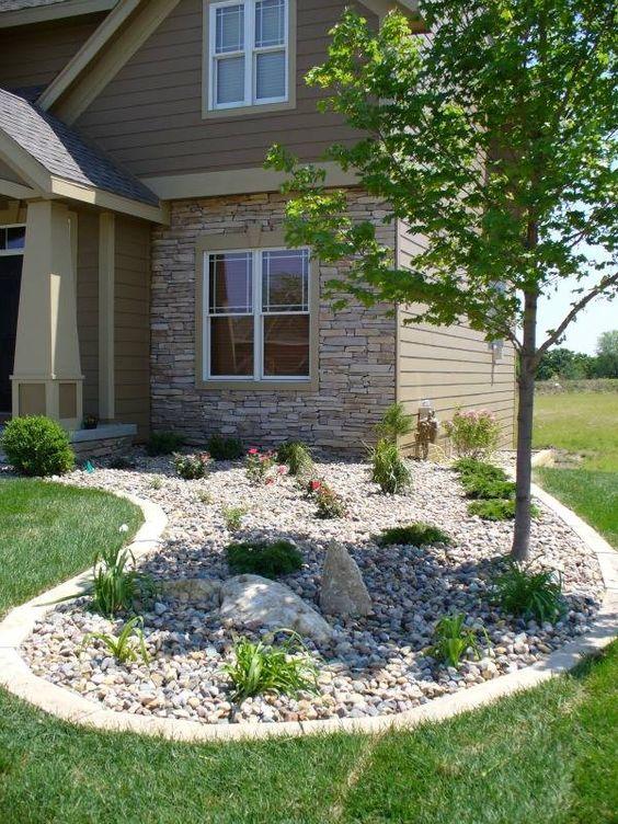 river rock garden drainage solutions des moines ForLandscaping Rocks Des Moines