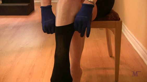 How to put on knee-high compression stockings