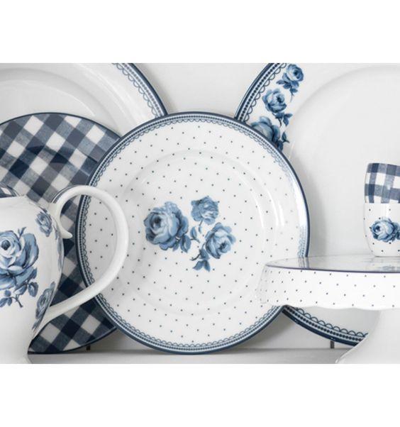 Plato pequeño estilo inglés floral Katie blanco | Especial Dia de ...
