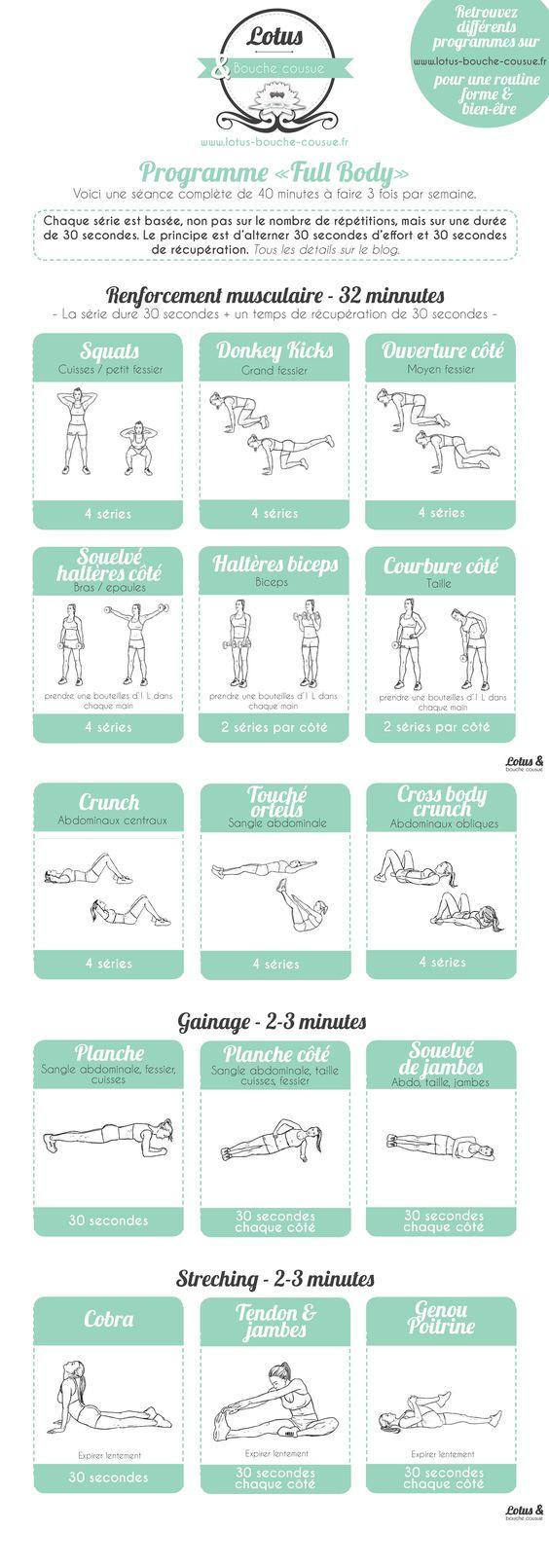 Programme fitness « Full Body » à la maison. Un programme complet, pour…