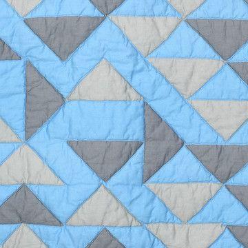 COBERTOR CAMA DE CASAL-QUEEN  Albers x Fab: Camino Blue Quilt Full/Queen