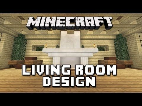 Minecraft Living Room Family Furniture Couch Chair TV Computer Desk
