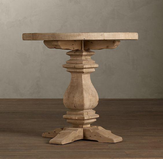 Restoration Hardware»Living»Tables & Trunks»Side & Item Tables»Pedestal Salvaged Wood Round Side Table  PEDESTAL SALVAGED WOOD ROUND SIDE TABLE  $895FINAL SALE $399